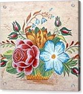 Bavarian Floral  Acrylic Print by Brenda Ruark