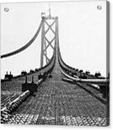Bay Bridge Under Construction Acrylic Print