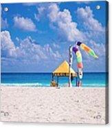 Beach Colors Acrylic Print by Richie Stewart