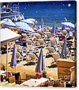 Beach In Cannes Acrylic Print