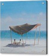 Beach Tent, 2012 Acrylic On Canvas Acrylic Print
