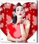 Beautiful Girl In A Bright Love Romance Acrylic Print