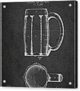 Beer Mug Patent From 1876 - Dark Acrylic Print
