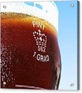 Beer Pint Glass Acrylic Print