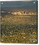 Bellvue Skyline At Sunset Acrylic Print