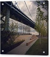 Ben Franklin Bridge Acrylic Print by Katie Cupcakes