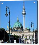Berlin Cathedral And Tv Tower Acrylic Print