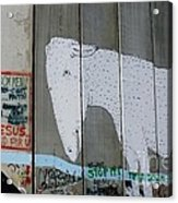 Bethlehem Separation Wall Acrylic Print