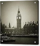 Big Ben On A Wintery Day Acrylic Print