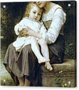 Big Sister Acrylic Print by William Bouguereau