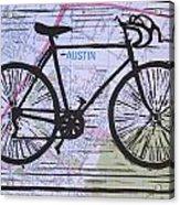Bike 8 On Map Acrylic Print