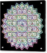 1 Billion Dollars Geometric Black Acrylic Print