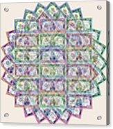 1 Billion Dollars Geometric Tan Acrylic Print