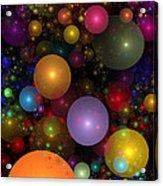 Billions Of Bubbles Acrylic Print by Peggi Wolfe