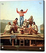 Bingham's The Jolly Flatboatmen Acrylic Print