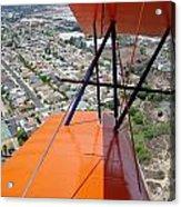 Biplane Over San Diego Acrylic Print