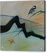 Bird Branch Leaf Acrylic Print