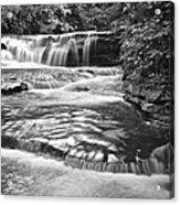 Black And White Cascade Acrylic Print