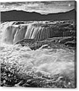 Black And White Waterfall Acrylic Print