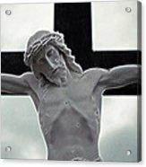 Black Cross Acrylic Print