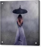 Black Umbrella Acrylic Print by Joana Kruse