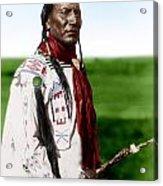 Blackfoot Man With Braided Sweet Grass Ropes Acrylic Print