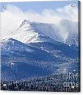 Blizzard Peak Acrylic Print