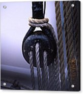 Block And Tackle Acrylic Print by Barry Shaffer