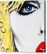 Blondie Acrylic Print by Alicia Hayes