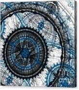 Blue Clockwork Acrylic Print
