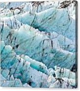 Blue Glacier Ice Background Texture Pattern Acrylic Print