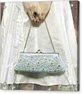 Blue Handbag Acrylic Print