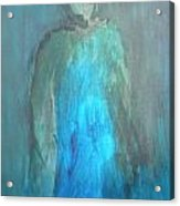 Blue Lady Acrylic Print by Andrea Friedell