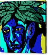 Blue Man Acrylic Print by Moshfegh Rakhsha