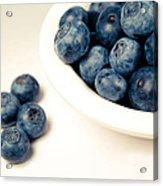 Blue On White Acrylic Print