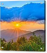 Blue Ridge Parkway Late Summer Appalachian Mountains Sunset West Acrylic Print