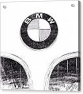 Bmw Z3 Emblem In Black Acrylic Print