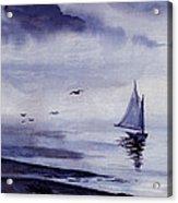 Boat Acrylic Print by Sam Sidders