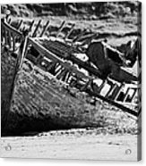 boat wreck on bunbeg beach in gweedore gaeltacht county Donegal Republic of Ireland Acrylic Print