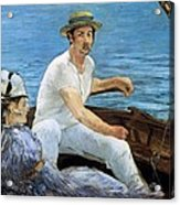 Boating Acrylic Print by Edouard Manet