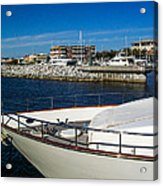 Boats In Port Acrylic Print
