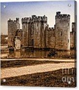 Bodiam Castle Acrylic Print by Donald Davis