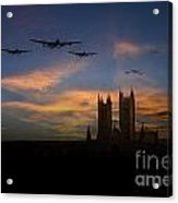 Bombers Over Lincoln  Acrylic Print