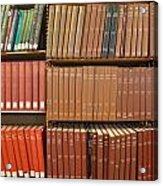 Bookshelves Acrylic Print