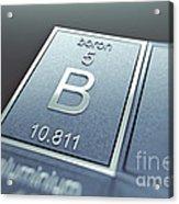 Boron Chemical Element Acrylic Print