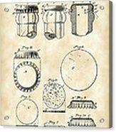 Bottle Cap Patent 1892 - Vintage Acrylic Print