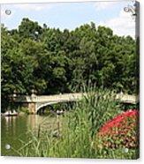 Bow Bridge Over The Lake Acrylic Print