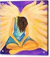 Bowing Angel Acrylic Print