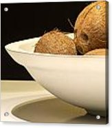 Bowl Of Coconuts Acrylic Print