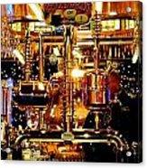 Brass Beer Acrylic Print by Sharon Costa